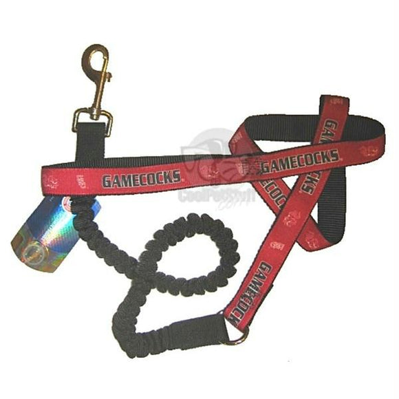 South Carolina Gamecocks Bungee Ribbon Pet Leash