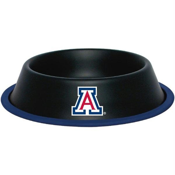 Arizona Wildcats Gloss Black Pet Bowl