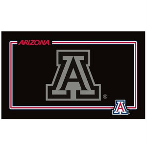 Arizona Wildcats Black Pet Bowl Mat