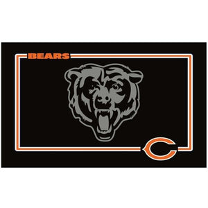 Chicago Bears Black Pet Bowl Mat