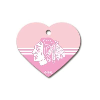 Chicago Blackhawks Heart ID Tag