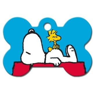 Snoopy House Large Bone ID Tag