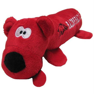 Arkansas Razorbacks Plush Tube Pet Toy