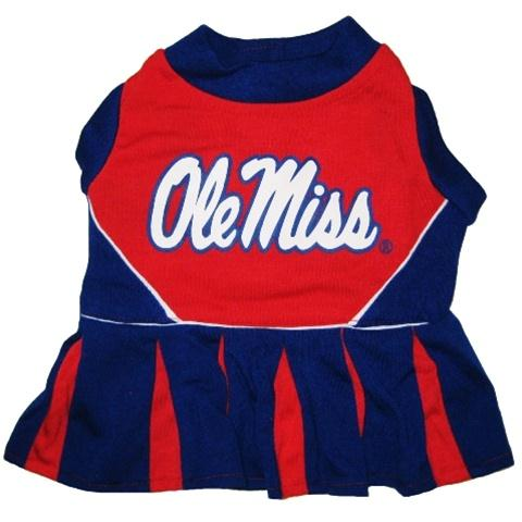 Ole Miss Rebels Cheerleader Pet Dress