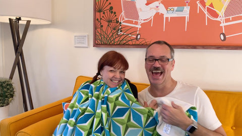 Samples: Mid Century Modern new Throw Blankets and PolaRise collection, plus a surprise for my first co-host!
