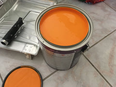 Final choice for mid century modern orange paint