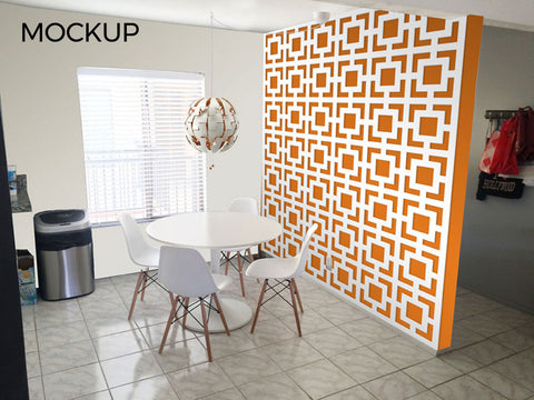 Mid century mockup for dinning room new look