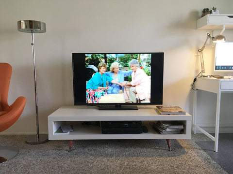 Quick Diy Hack To Give A Mid Century Touch To A Tv Stand