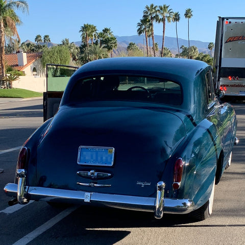Palm Springs Lucille Ball Rolls Royce Silver Cloud III back view