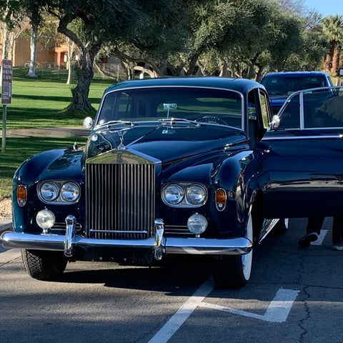 Palm Springs Lucille Ball Rolls Royce Silver Cloud III front view