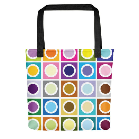 "Mid Century Modern Moon Eclipse 15"" Tote Bag"