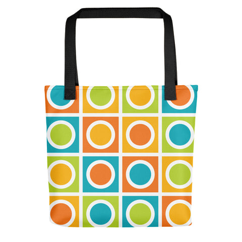 "Mid Century Modern Sun Eclipse 15"" Tote Bag"