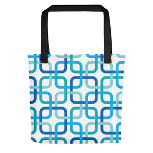 "Mid Century Modern Blue PanAmTrays 15"" Tote Bag"