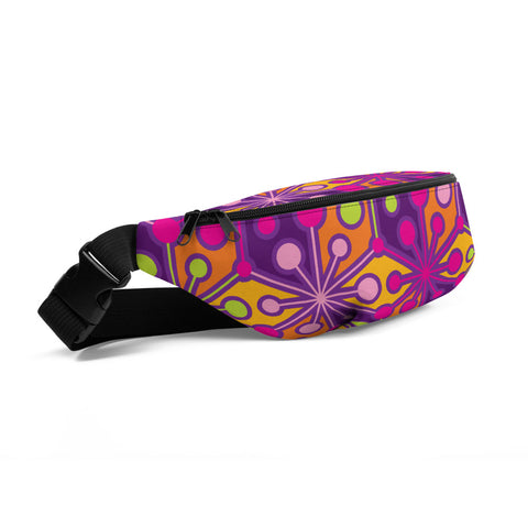 Mid Century Modern Multicolour PsychoFlakes Fanny Pack side view