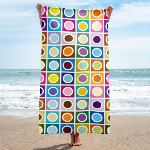 Mid Century Modern Moon Eclipse Beach & Pool Towel