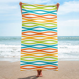 Mid Century Modern Multicolour TopperWaves Beach & Pool Towel