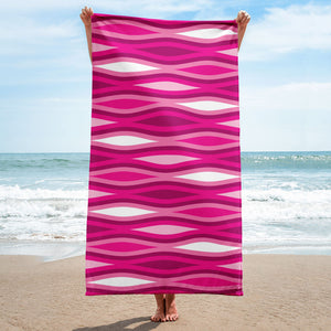 Mid Century Modern Pink TopperWaves Beach & Pool Towel