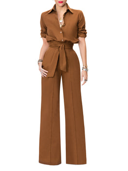 """Michelle"" Coco Button-Down Jumpsuit"