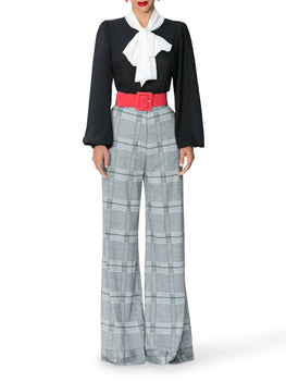 """Bardot"" High Waist Houndstooth Pants"