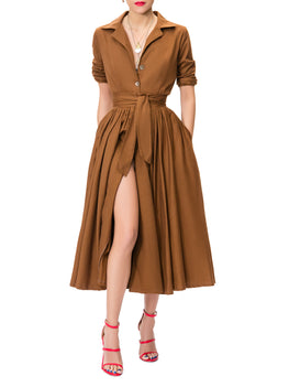 """Charlotte"" Coco Midi Shirtdress"