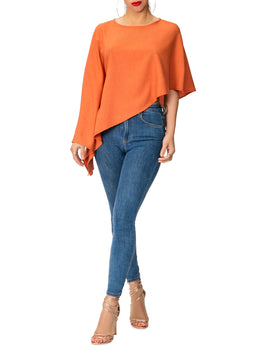 """Joni"" Rust Asymmetrical Top"