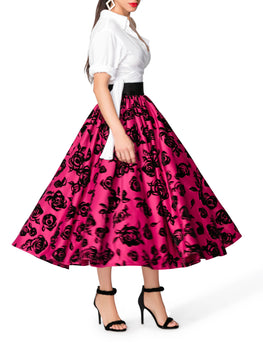 """Belle"" Shirred Floral Skirt"