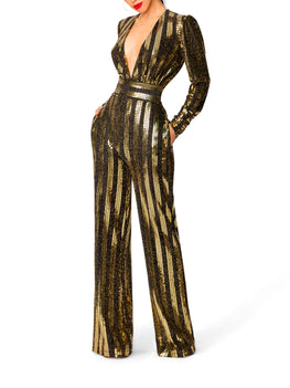 """Star"" Gold and Black Jumpsuit"