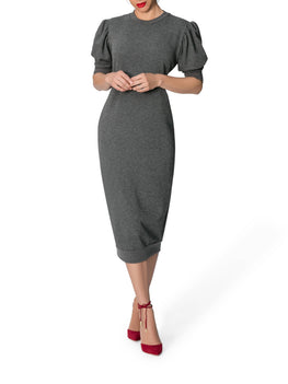 """Halle"" Grey Sweater Dress"