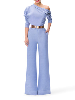 """St. Tropez"" Chambray High Waist Pants"