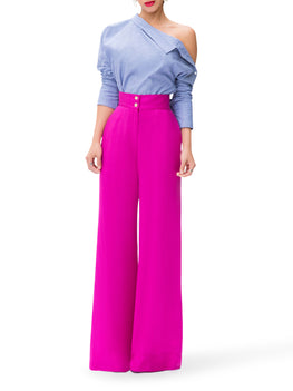 """Santiago""  Magenta High Waist Pants"