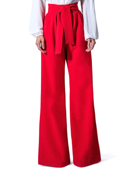 """Paris"" Belted High Waist Wide Leg Pants"