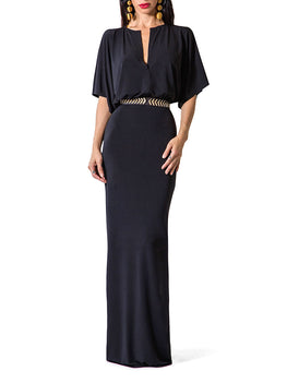 """Jamie"" V-Neck Maxi Dress"