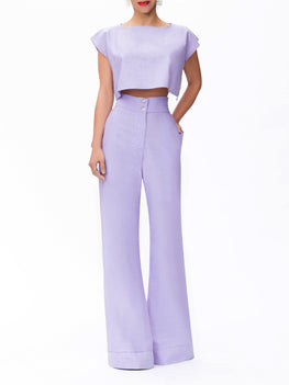 """Tahiti"" Lavender High Waist Pants"