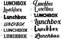 Lunch Box Stickers