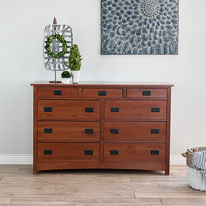 Mission 9-Drawer Dresser