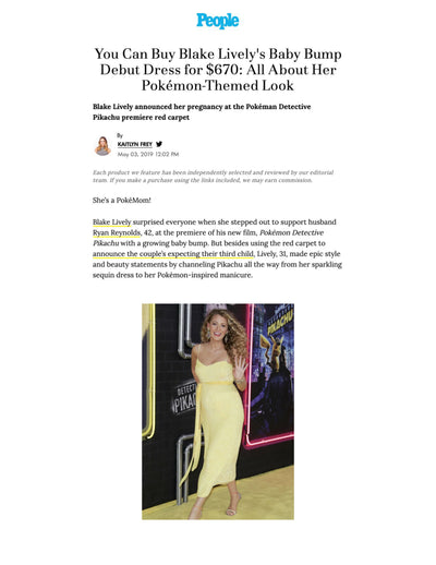 You Can Buy Blake Lively's Baby Bump Debut Dress for $670: All About Her Pokemon-Themed Look