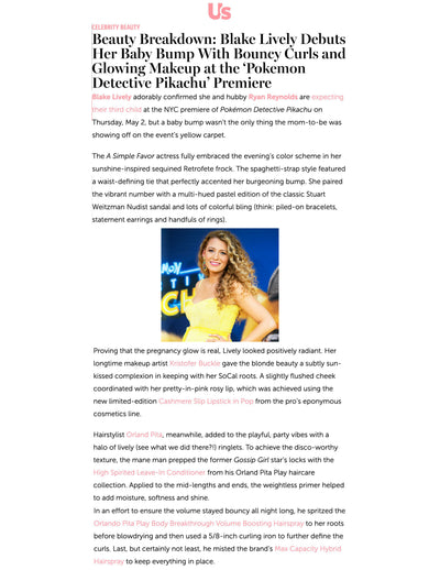 Beauty Breakdown: Blake Live Debuts Her Baby Bump With Bouncy Curls and Glowing Makeup at the 'Pokemon Detective Pickachu' Premiere