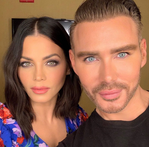 Kristofer Buckle takes a selfie with Jenna Dewan
