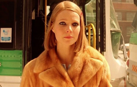 Gwyneth Paltrow is photographed on set of The Royal Tenebaums movie.