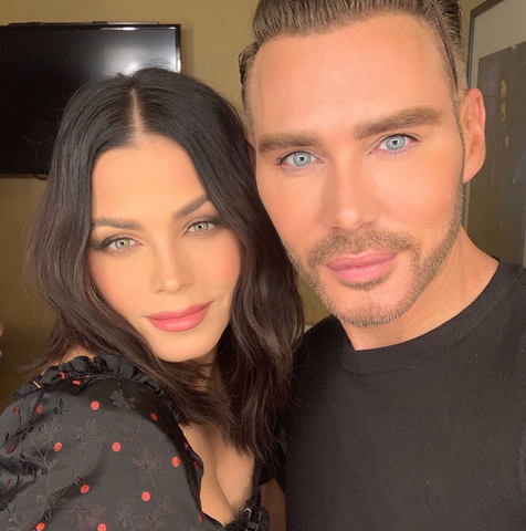 Kristofer Buckle and Jenna Dewan take a selfie together