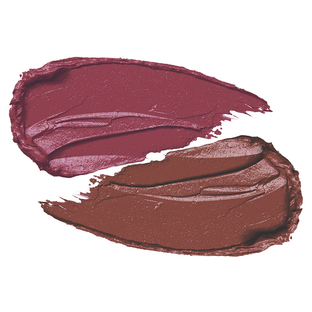 Features two Cashmere Slip® lipstick shades that deliver creamy, richly pigmented color