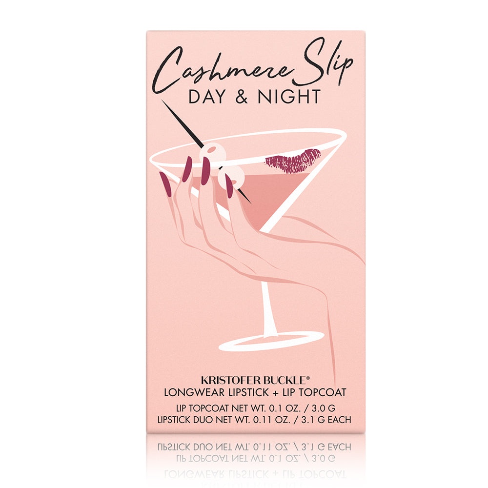 Cashmere Slip® Day and Night - Transform lips from day to night.
