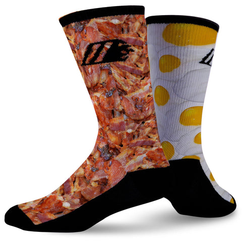 BACON & EGGS,  - Sock Motto