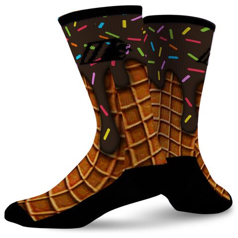 CHOCOLATE SPRINKLES,  - Sock Motto