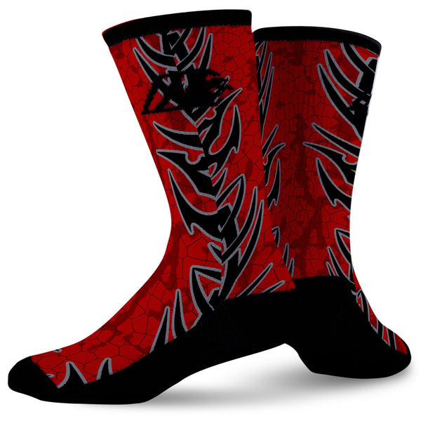 RED DRAGON,  - Sock Motto