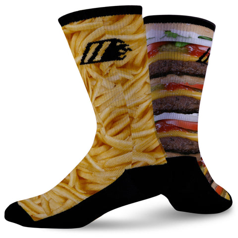 BURGER & FRIES,  - Sock Motto