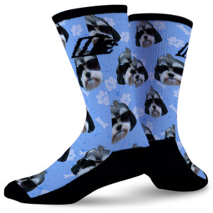 CUSTOM DOG LOVER SOCKS,  - Sock Motto