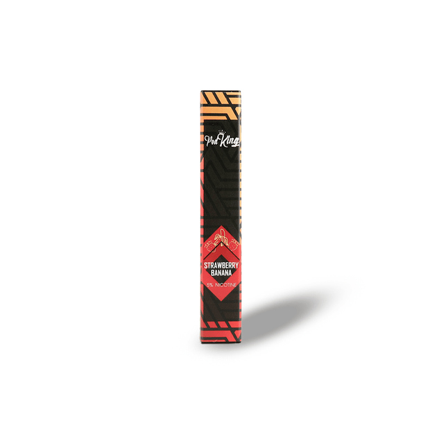 Vape Desechable Pod King sabor Strawberry Banana en La Vapería México