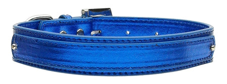 "3/4"" (18mm) Metallic Two-Tier Collar  Blue Medium - Baby Buggy Outlet LLC"