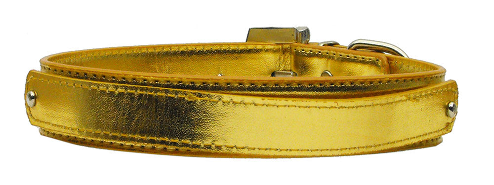 "3/4"" (18mm) Metallic Two-Tier Collar  Gold Medium - Baby Buggy Outlet LLC"